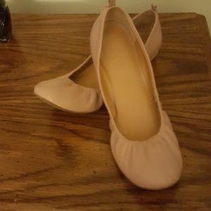 J Crew Leather Ballet Flats